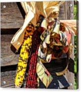 Colorful Indian Corn Decorations Acrylic Print