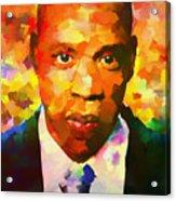 Colorful Jay Z Palette Knife Acrylic Print