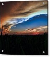 Kansas - Land Of Beautiful Sunsets Acrylic Print