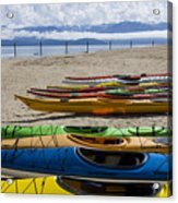 Colorful Kayaks Acrylic Print