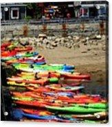 Colorful Kayaks Acrylic Print