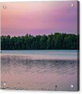 Colorful Lake-side Sunset Acrylic Print