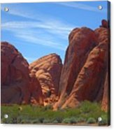 Colorful Landscape Rock Mountains Of Overton Nevada  Acrylic Print