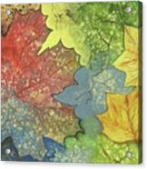 Colorful Leaves Acrylic Print