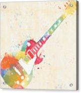 Colorful Les Paul Acrylic Print
