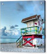Colorful Lifeguard Tower Acrylic Print