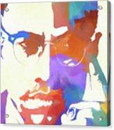 Colorful Malcolm X Acrylic Print