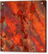 Colorful Metal Abstract With Border Acrylic Print