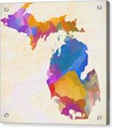 Colorful Michigan Acrylic Print