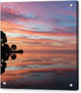Colorful Morning Mirror - Spectacular Sky Reflections At Dawn Acrylic Print