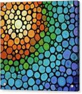 Colorful Mosaic Art - Blissful Acrylic Print