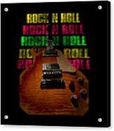 Colorful Music Rock N Roll Guitar Retro Distressed  Acrylic Print