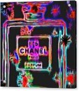 Colorful Neon Chanel Five  Acrylic Print