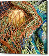 Colorful Nets And Float Acrylic Print