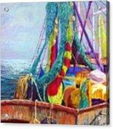 Colorful Nets Acrylic Print