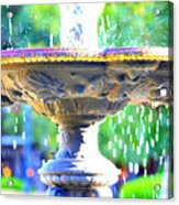 Colorful New Orleans Fountain Acrylic Print