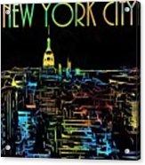 Colorful New York City Skyline Acrylic Print