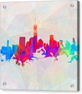 Colorful New York Skyline Acrylic Print