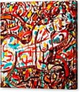 Colorful Nude 1 Acrylic Print