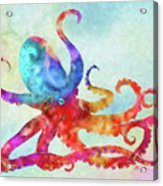 Colorful Octopus Acrylic Print