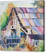 Colorful Old Barn Acrylic Print