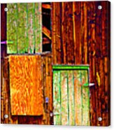 Colorful Old Barn Wood Acrylic Print