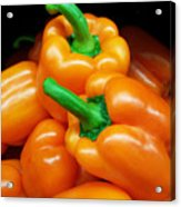 Colorful Orange Bell Peppers Acrylic Print