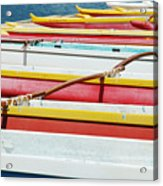 Colorful Outrigger Canoes Acrylic Print