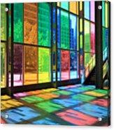 Colorful Palais Des Congres Montreal Canada Acrylic Print