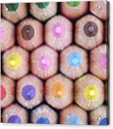Colorful Pencils 2 Acrylic Print