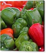 Colorful Peppers Acrylic Print