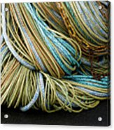 Colorful Pile Of Fishing Nets And Ropes Acrylic Print