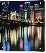 Colorful Pittsburgh Lights Acrylic Print