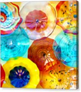 Colorful Plates Acrylic Print by Artist and Photographer Laura Wrede