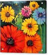 Colorful Poppy Warm No.1 Acrylic Print