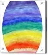 Colorful Rainbow Colored Egg Acrylic Print