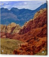 Colorful Red Rock Acrylic Print