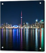 Colorful Reflections Of Toronto Acrylic Print