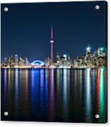 Colorful Reflections Of Toronto Acrylic Print