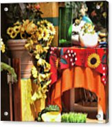 Colorful Restaurant Bucerias Acrylic Print