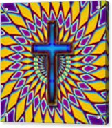 Colorful Retro Cross Acrylic Print