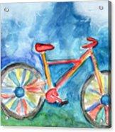 Colorful Ride- Bike Art By Linda Woods Acrylic Print