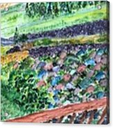 Colorful Rock Garden Acrylic Print