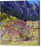 Colorful Rock Mesatrail Acrylic Print