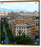 Colorful Rome Cityscape Acrylic Print