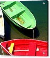 Colorful Row Boats Acrylic Print