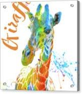 Colorful Safari Animals D Acrylic Print