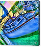Colorful Sailboat Acrylic Print