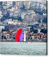 Colorful Sails Acrylic Print