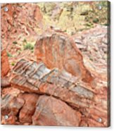 Colorful Sandstone In Wash 3 - Valley Of Fire Acrylic Print